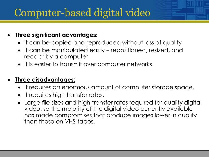 Computer-based digital video