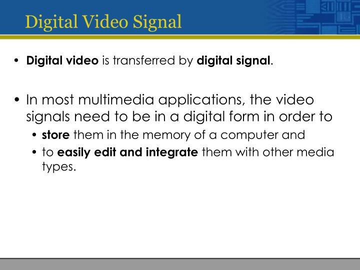 Digital Video Signal