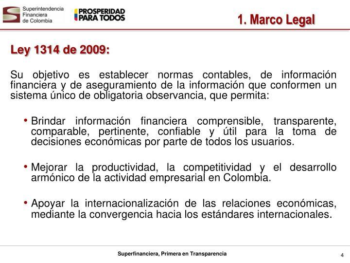 Ley 1314 de 2009: