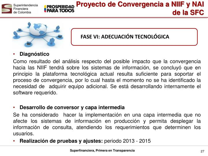 Proyecto de Convergencia a NIIF y
