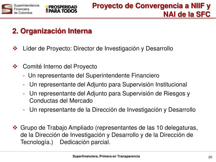 Proyecto de Convergencia a NIIF y NAI de la SFC