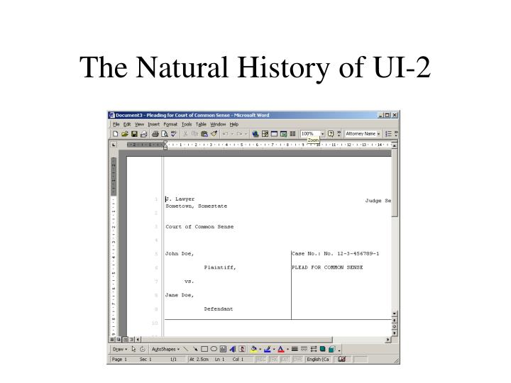 The natural history of ui 2