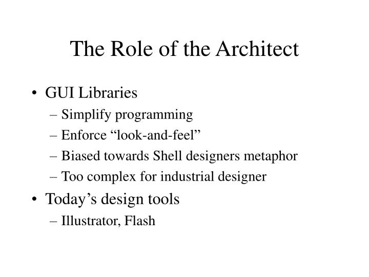 The Role of the Architect
