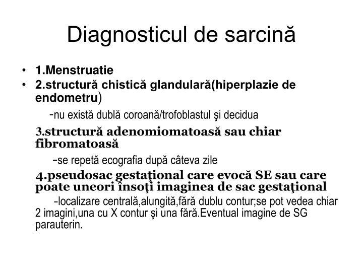 Diagnosticul de sarcină