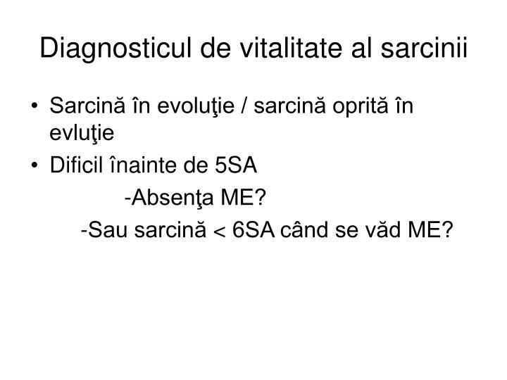 Diagnosticul de vitalitate al sarcinii