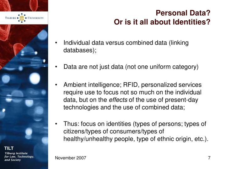 Personal Data?