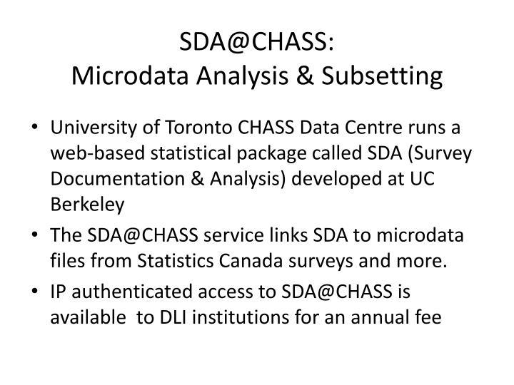 SDA@CHASS: