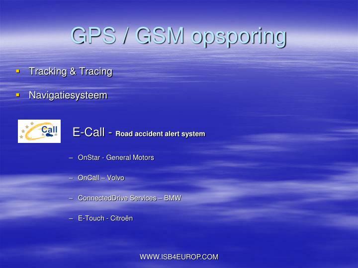 GPS / GSM opsporing