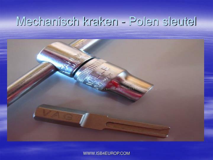 Mechanisch kraken - Polen sleutel