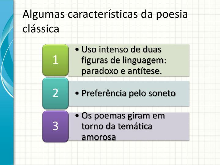 Algumas características da poesia clássica
