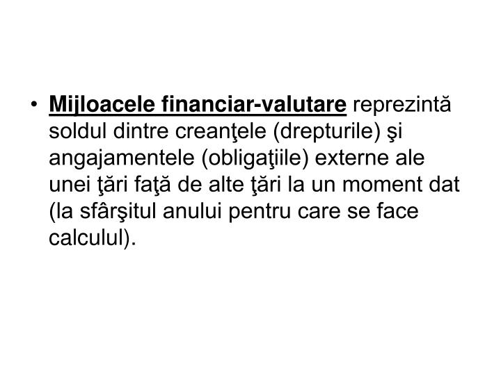 Mijloacele financiar-valutare