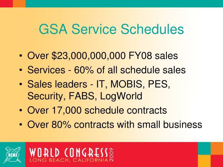 GSA Service Schedules