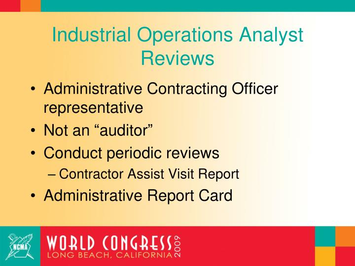 Industrial Operations Analyst Reviews