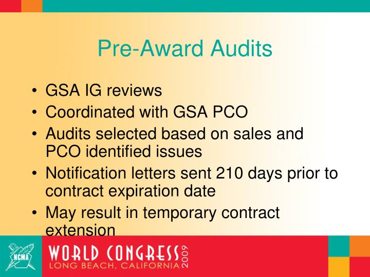 Pre-Award Audits