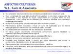 aspectos culturais w l gore associates