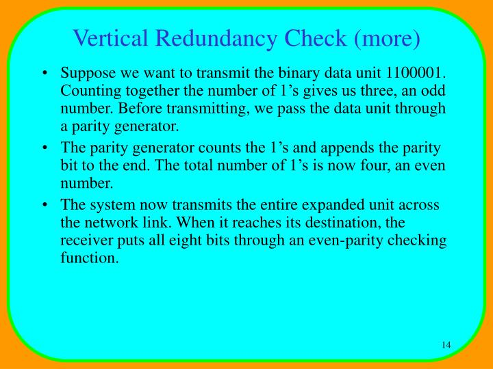 Vertical Redundancy Check (more)