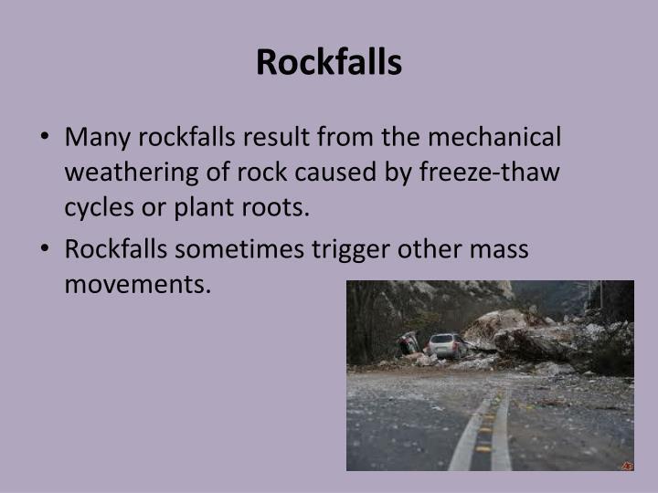 Rockfalls