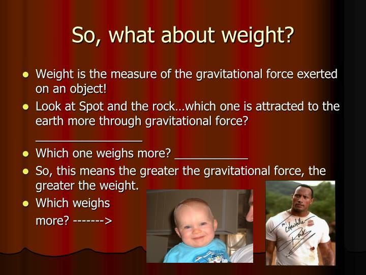 So, what about weight?
