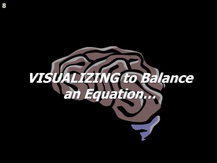 VISUALIZING to Balance an Equation…