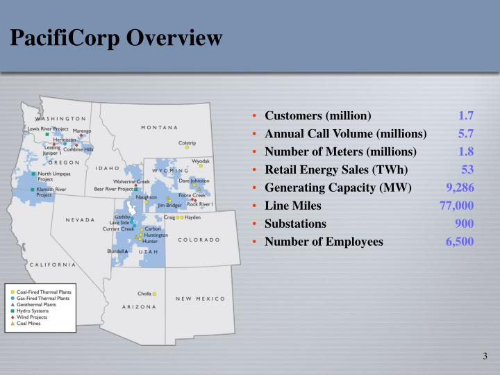 Pacificorp overview
