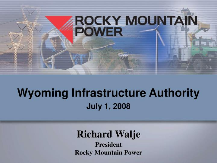 Wyoming Infrastructure Authority
