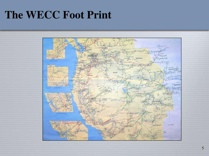 The WECC Foot Print
