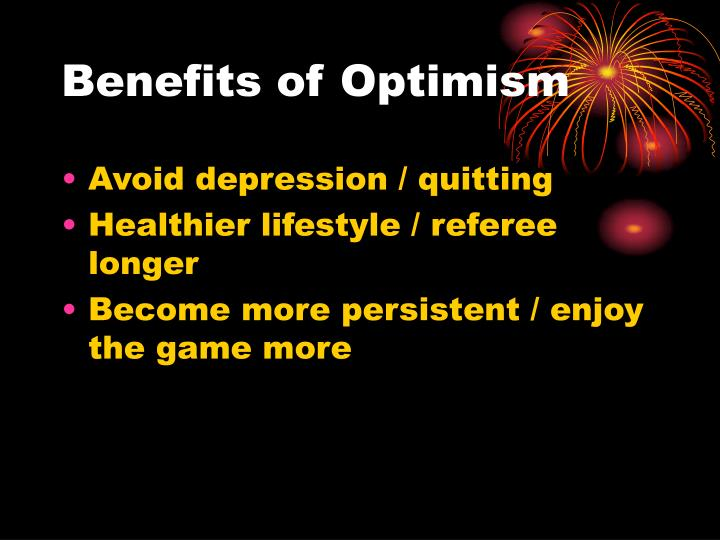 Benefits of Optimism