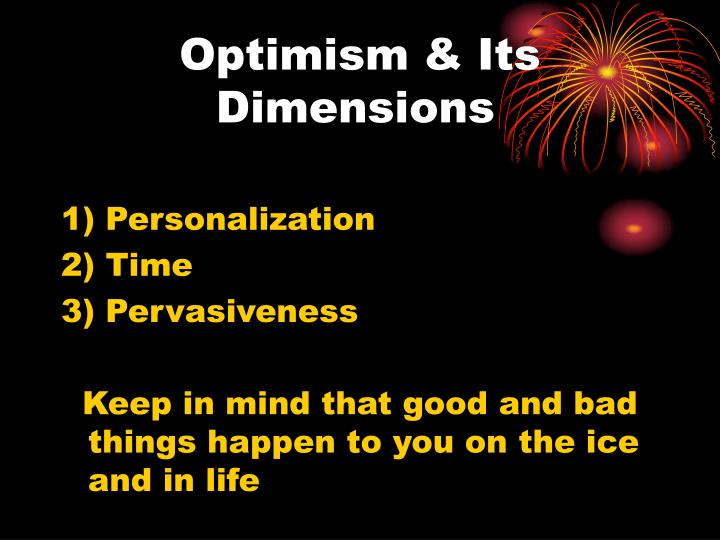 Optimism & Its Dimensions