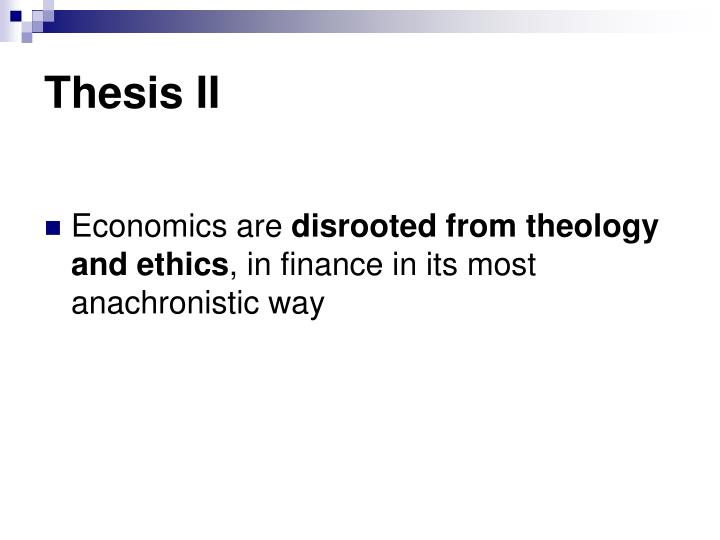 Thesis II