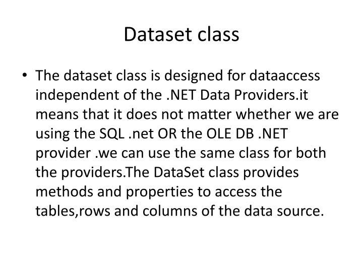 Dataset class
