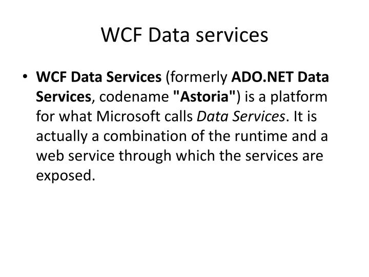 WCF Data services