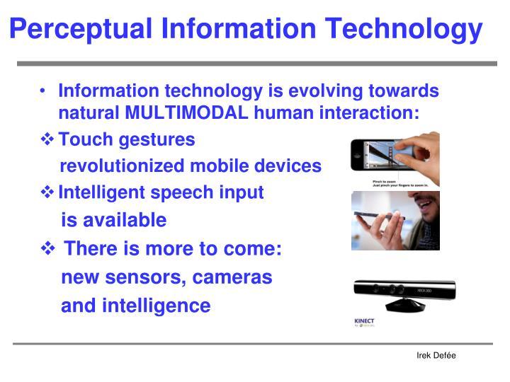 Perceptual Information Technology