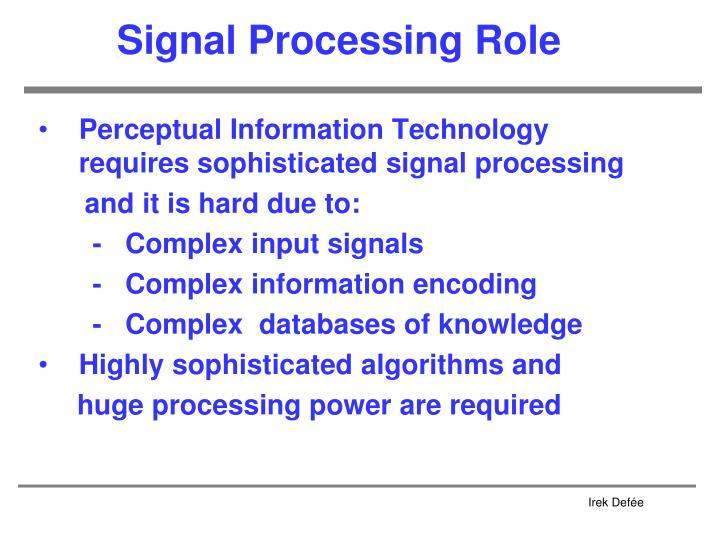 Signal Processing Role