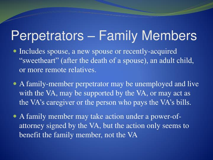 Perpetrators – Family Members