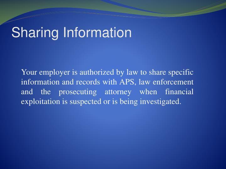Sharing Information