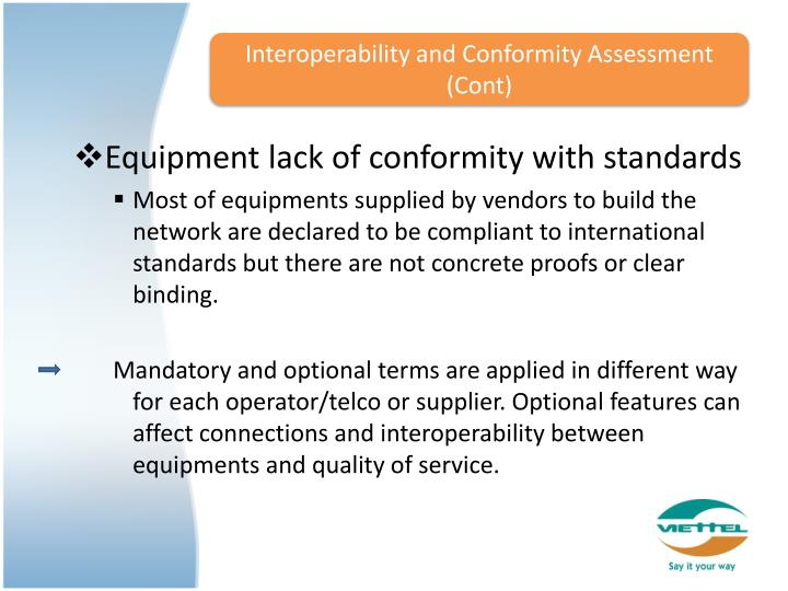 Interoperability and Conformity