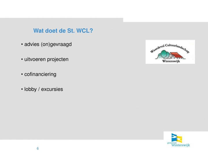 Wat doet de St. WCL?