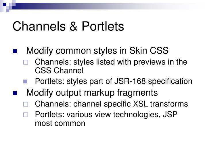 Channels & Portlets