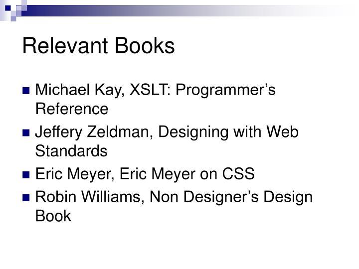 Relevant Books