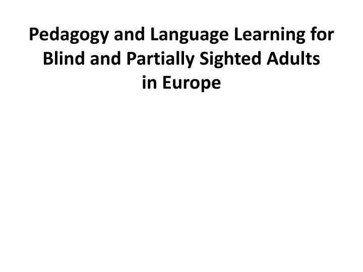 Jazykové vzdelávanie nevidiacich