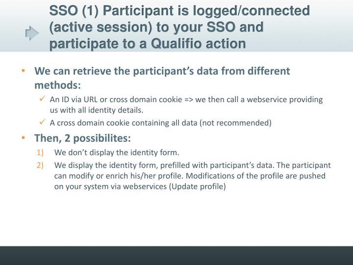 SSO (1) Participant