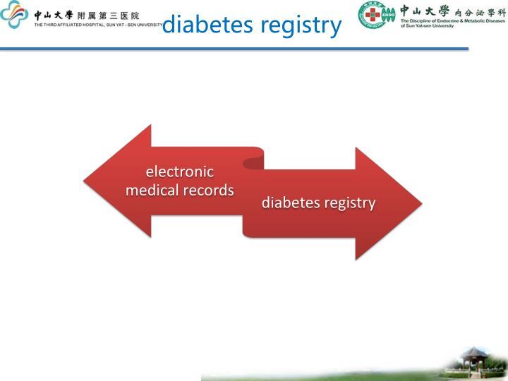 diabetes registry