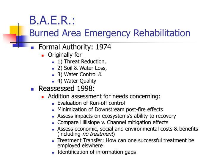 B.A.E.R.: