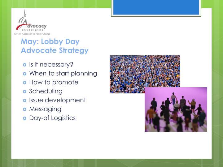 May: Lobby Day