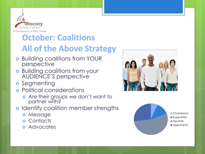 October: Coalitions