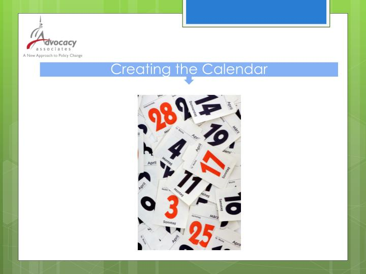 Creating the Calendar