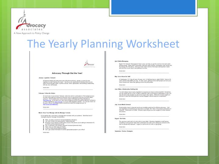 The Yearly Planning Worksheet