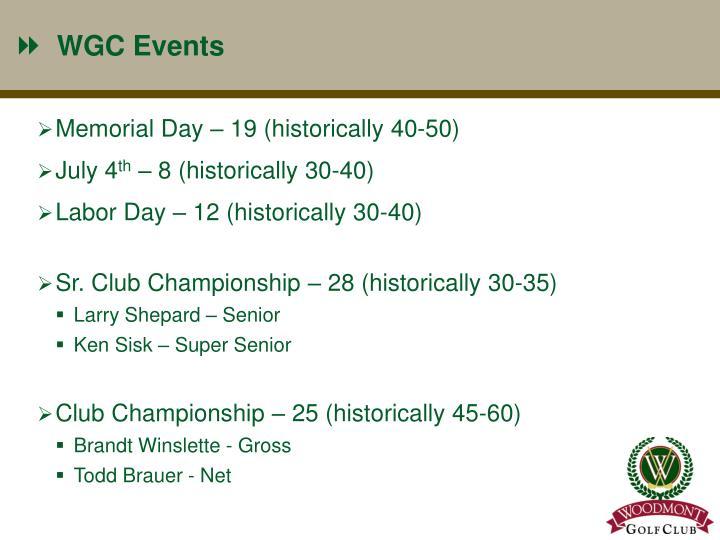 WGC Events