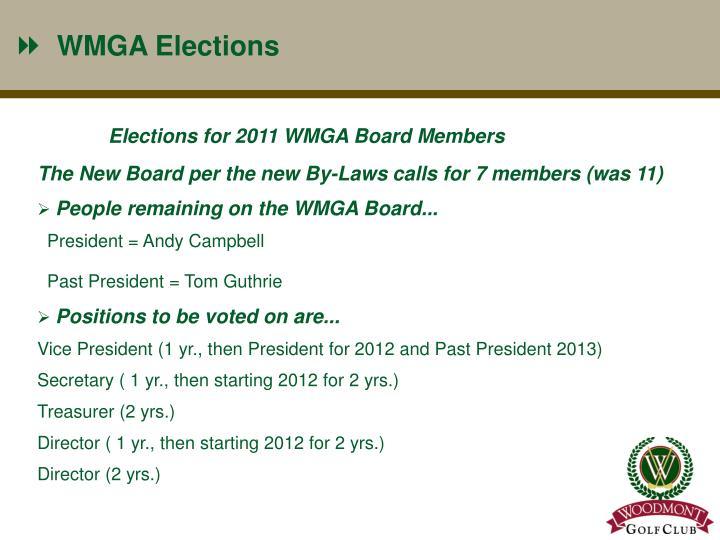 WMGA Elections