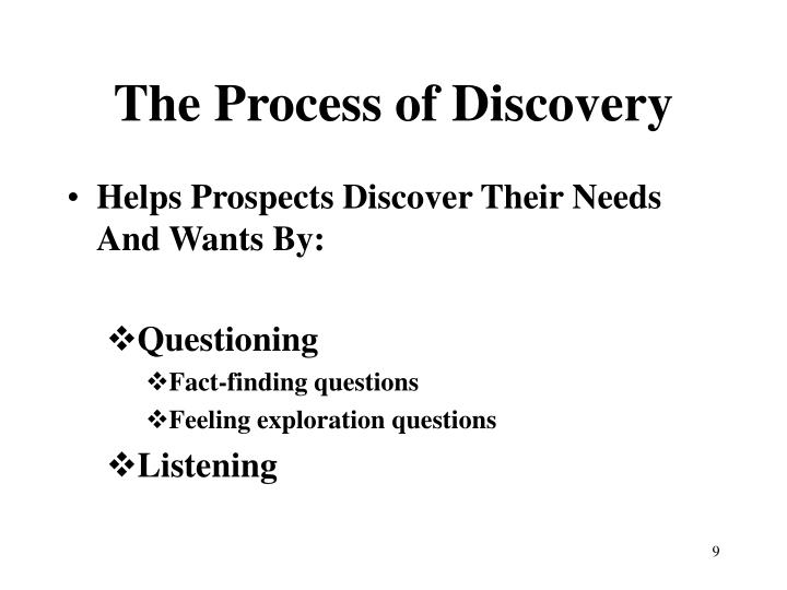 The Process of Discovery